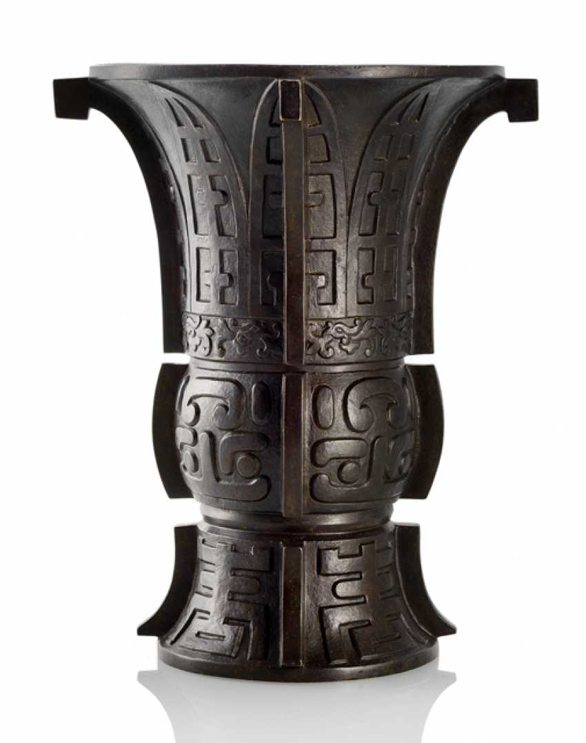 """""""Zun""""-Образный ваза в архаичном стиле из бронзы - фото 1"""