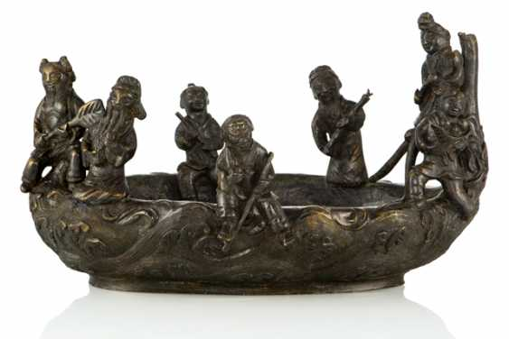 Shell with seven of the eight Immortals in a boat of Bronze - photo 1