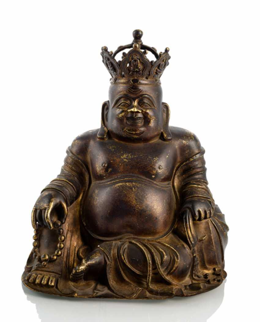 Fire-gilt Bronze of Budai - photo 1