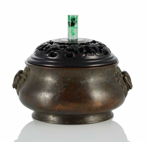 Incense burner made of Bronze with animal head Handle - photo 1