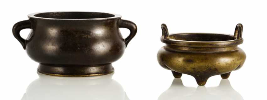 Two incense burners made of Bronze - photo 1