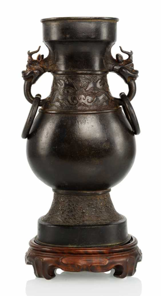 Vase made from Bronze in archaic style with Ring handle - photo 1