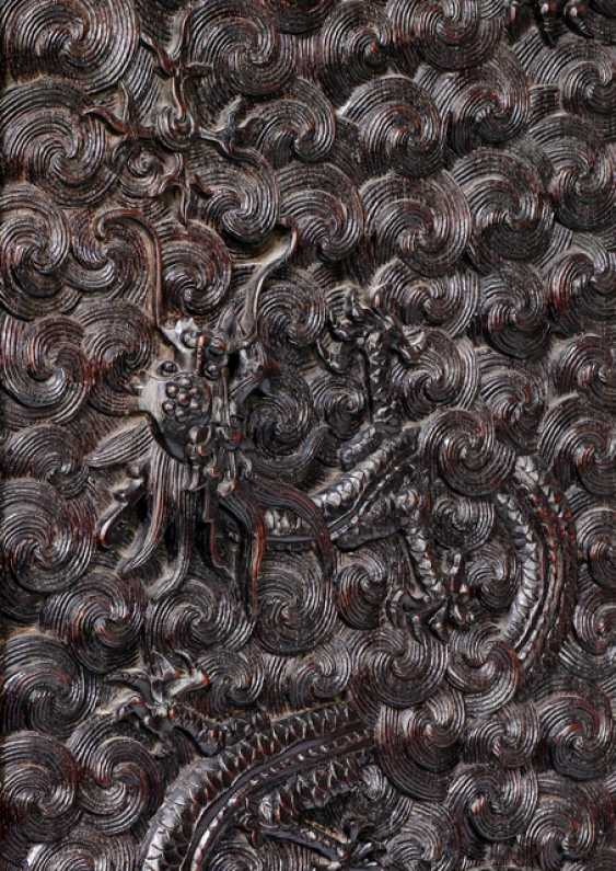 Some fine cabinets were made of hard wood with dragon decoration and metal fittings - photo 4