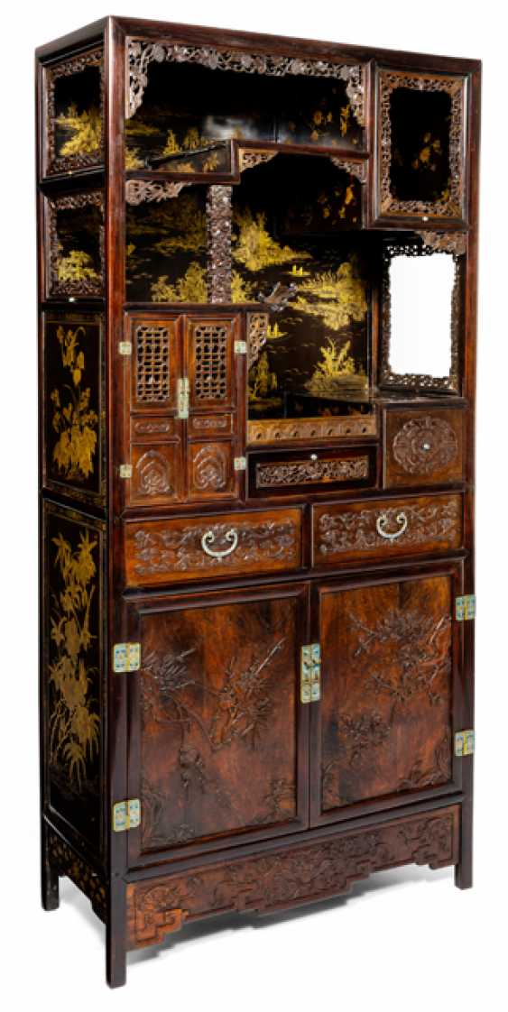 Some fine cabinets made of various Woods with Cloisonne fittings - photo 2