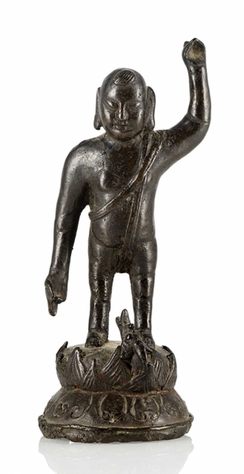 Bronze of the Buddha as a boy on a Lotus - photo 1