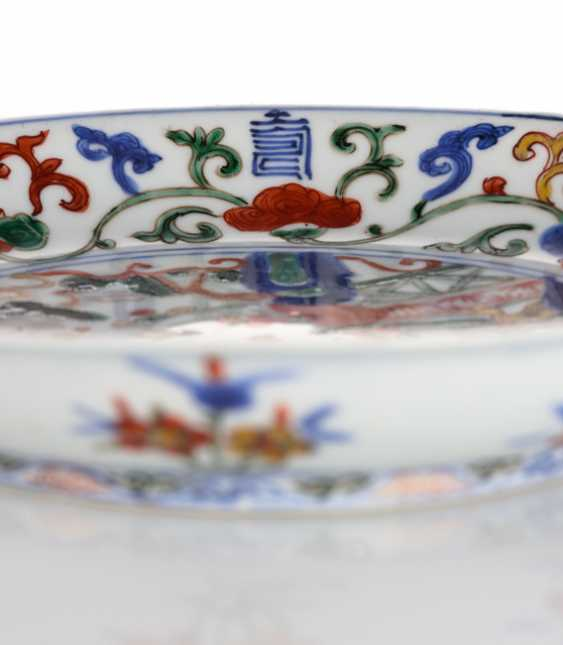 Imperial 'Wucai'dish with décor of the three gods 'fu', 'lu' and 'shou' - photo 4