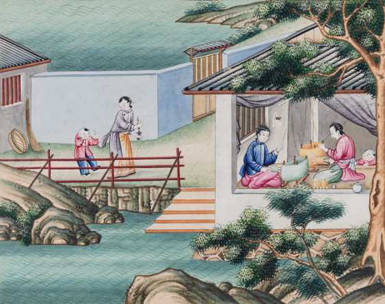Ten paintings from the series of the silk manufacture - photo 1