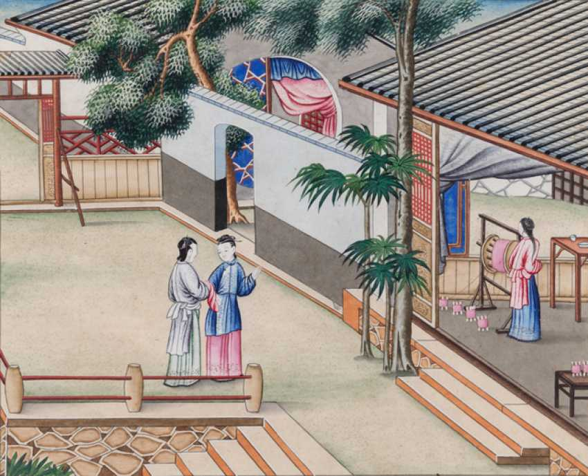 Ten paintings from the series of the silk manufacture - photo 3