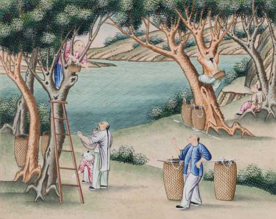 Ten paintings from the series of the silk manufacture - photo 4