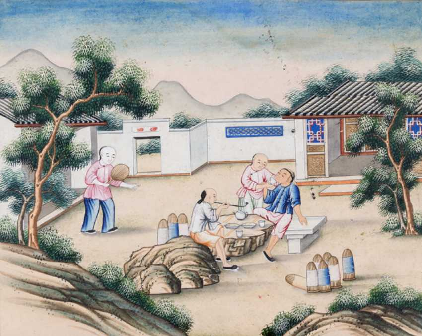 Ten paintings from the series of the silk manufacture - photo 6