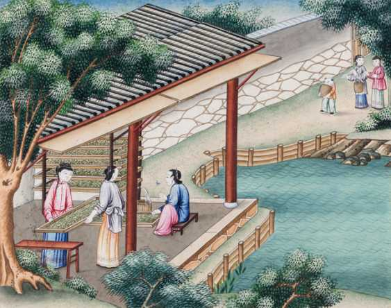 Ten paintings from the series of the silk manufacture - photo 7