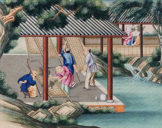 Ten paintings from the series of the silk manufacture - photo 8