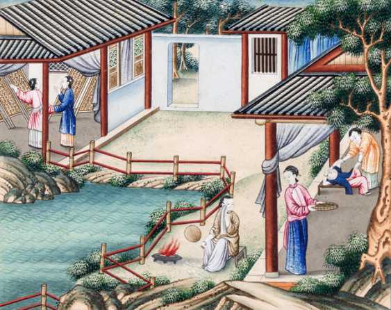 Ten paintings from the series of the silk manufacture - photo 9