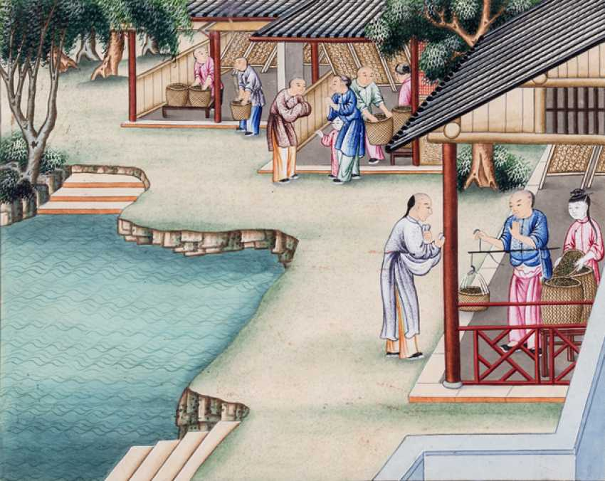 Ten paintings from the series of the silk manufacture - photo 10