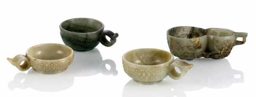 Four Jadebecher, a Calabash shape with handles - photo 1