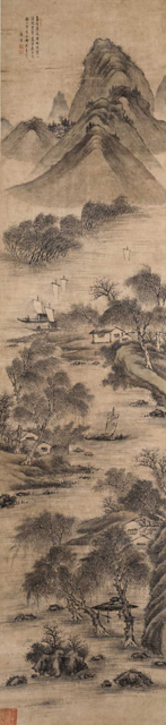 Two landscapes in the style of Tang Yin - photo 1