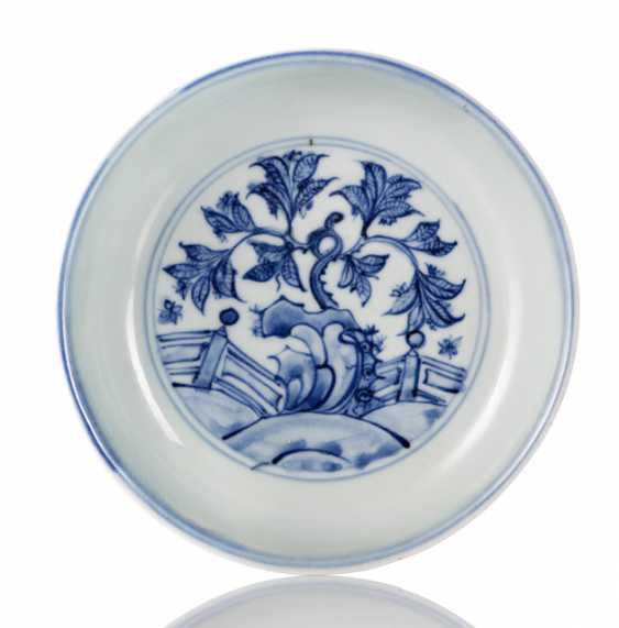 Underglaze blue decorated porcelain plate - photo 1