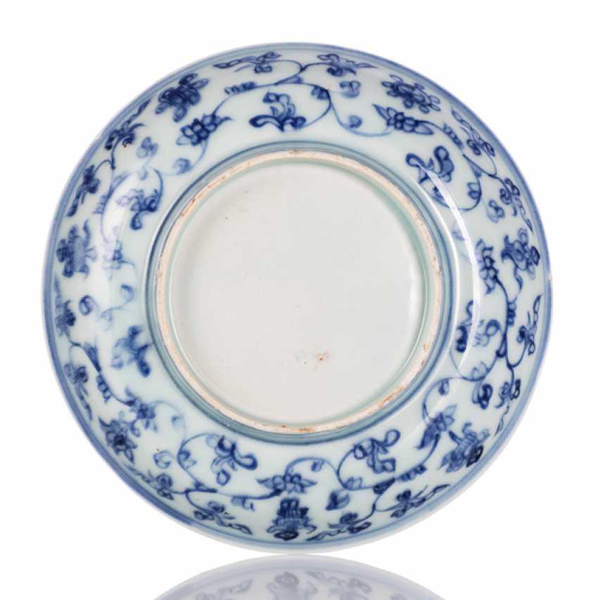 Underglaze blue decorated porcelain plate - photo 2
