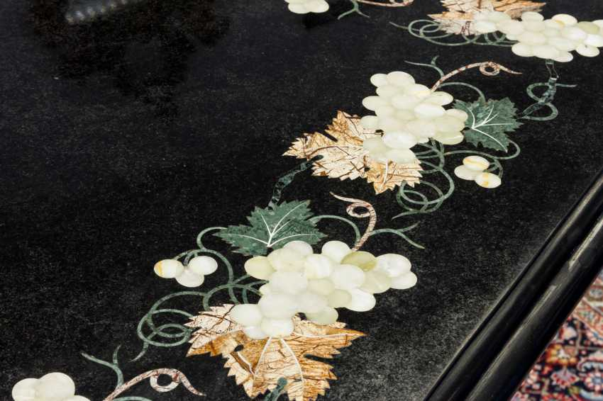 Large TABLE WITH PIETRA-DURA PANEL - photo 2