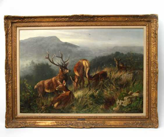 "DEIKER, CARL FRIEDRICH (Wetzlar 1836-1892 Düsseldorf), ""the deer family"" - photo 2"