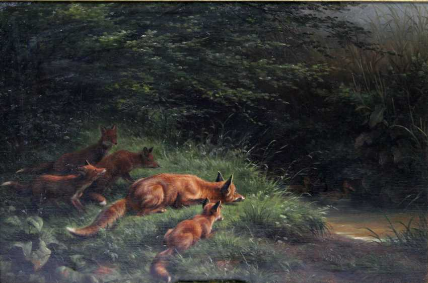 "DEIKER, JOHANNES CHRISTIAN (Wetzlar 1822-1895 Düsseldorf), ""Fox-lesson"", - photo 1"