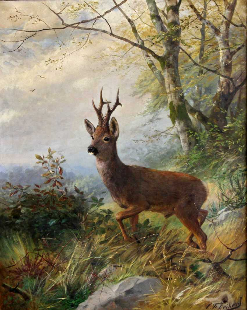 "DEIKER, CARL FRIEDRICH (Wetzlar 1836-1892 Düsseldorf), ""buck"" - photo 1"