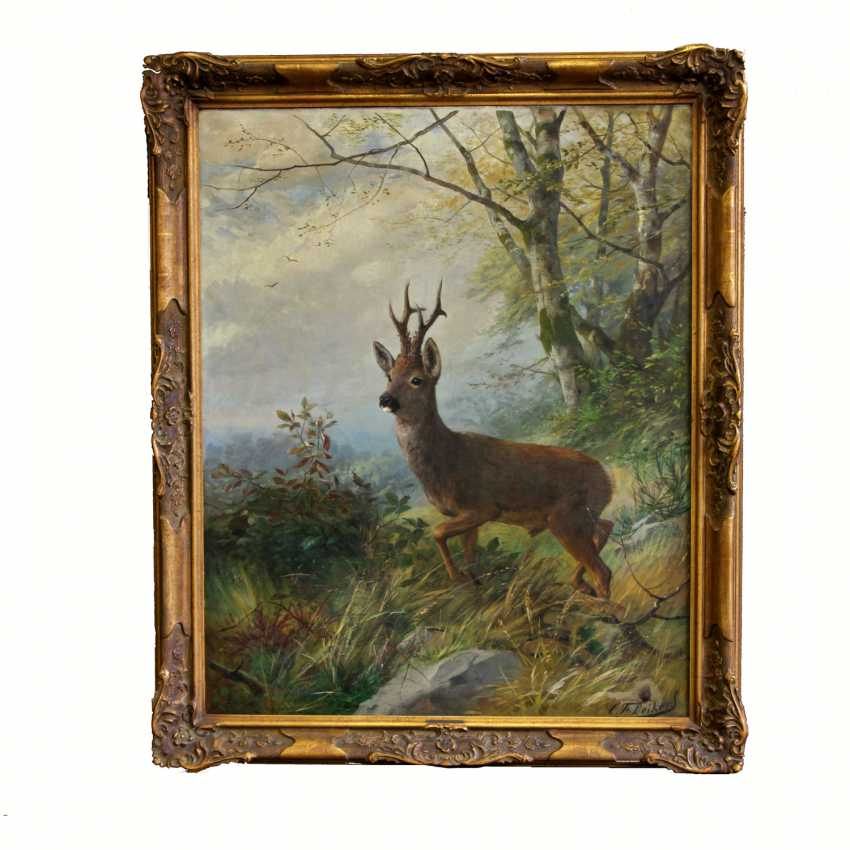 "DEIKER, CARL FRIEDRICH (Wetzlar 1836-1892 Düsseldorf), ""buck"" - photo 2"