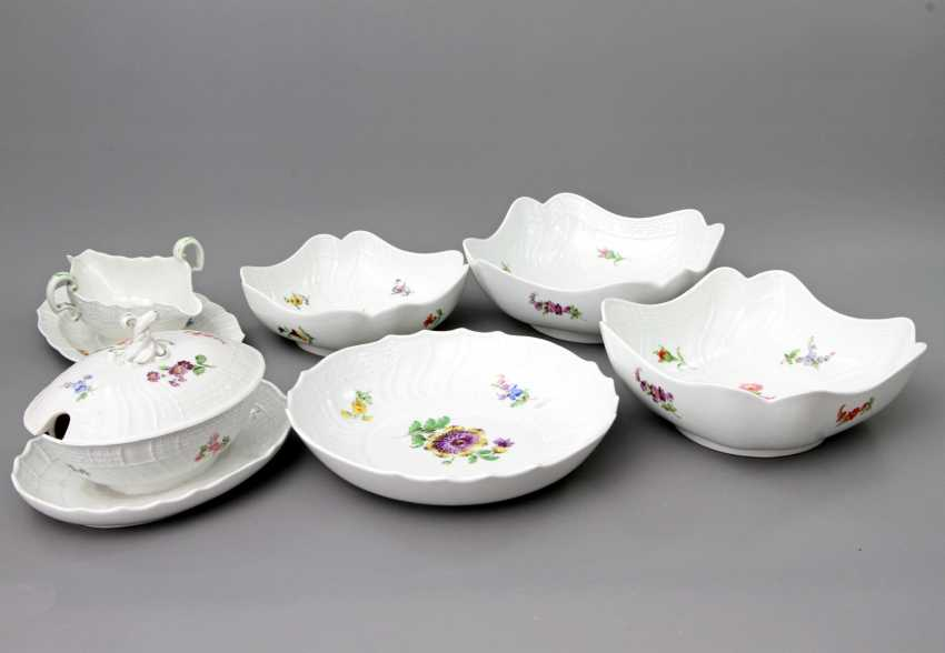 MEISSEN dining service for 12 people German flower colorful', Knauf swords & Pfeiffer time - photo 4