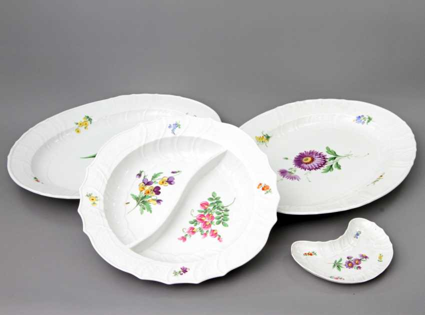 MEISSEN dining service for 12 people German flower colorful', Knauf swords & Pfeiffer time - photo 3