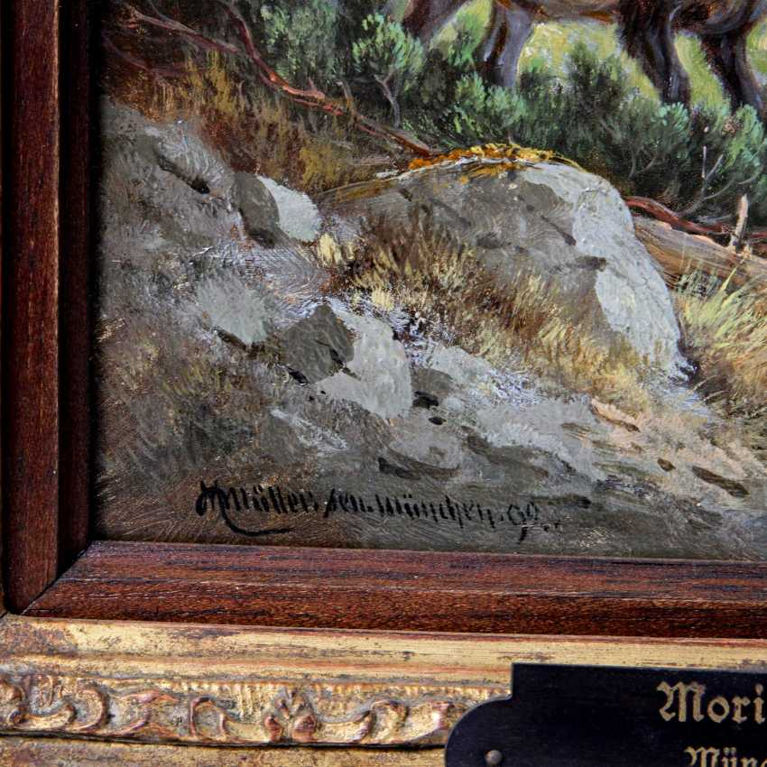 MÜLLER, MORITZ, Sr., (Munich 1841-1899 ibid, wildlife and hunting painter),