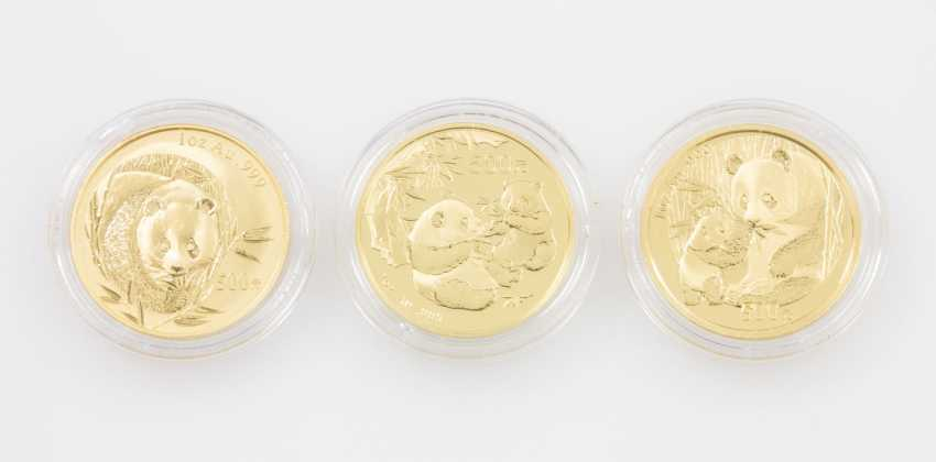 VR China/ GOLD - 3 x 500 Yuan 2003/05/06