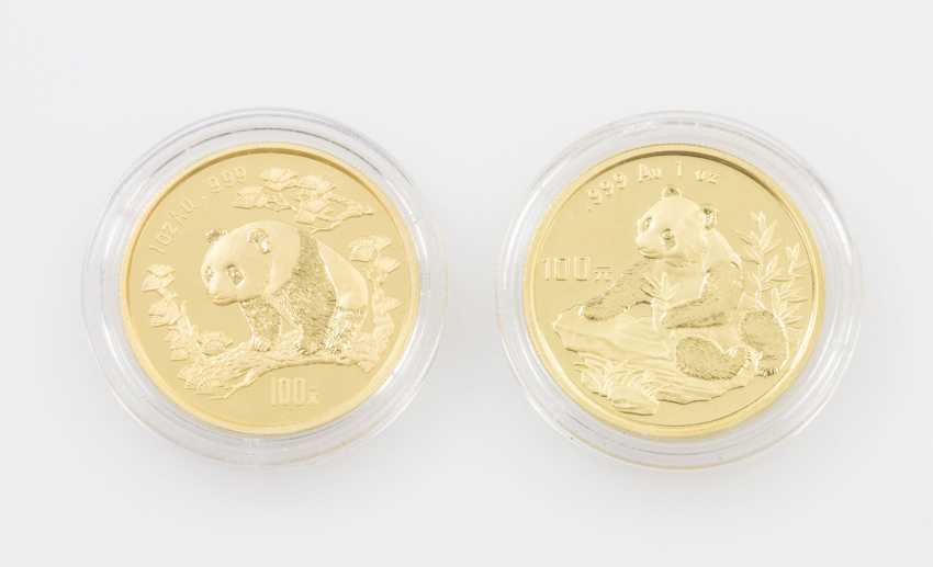 VR China/ GOLD - 2 x 100 Yuan Panda 1997+1998 - photo 1