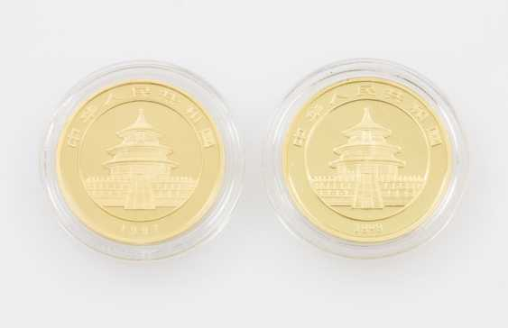 VR China/ GOLD - 2 x 100 Yuan Panda 1997+1998 - photo 2