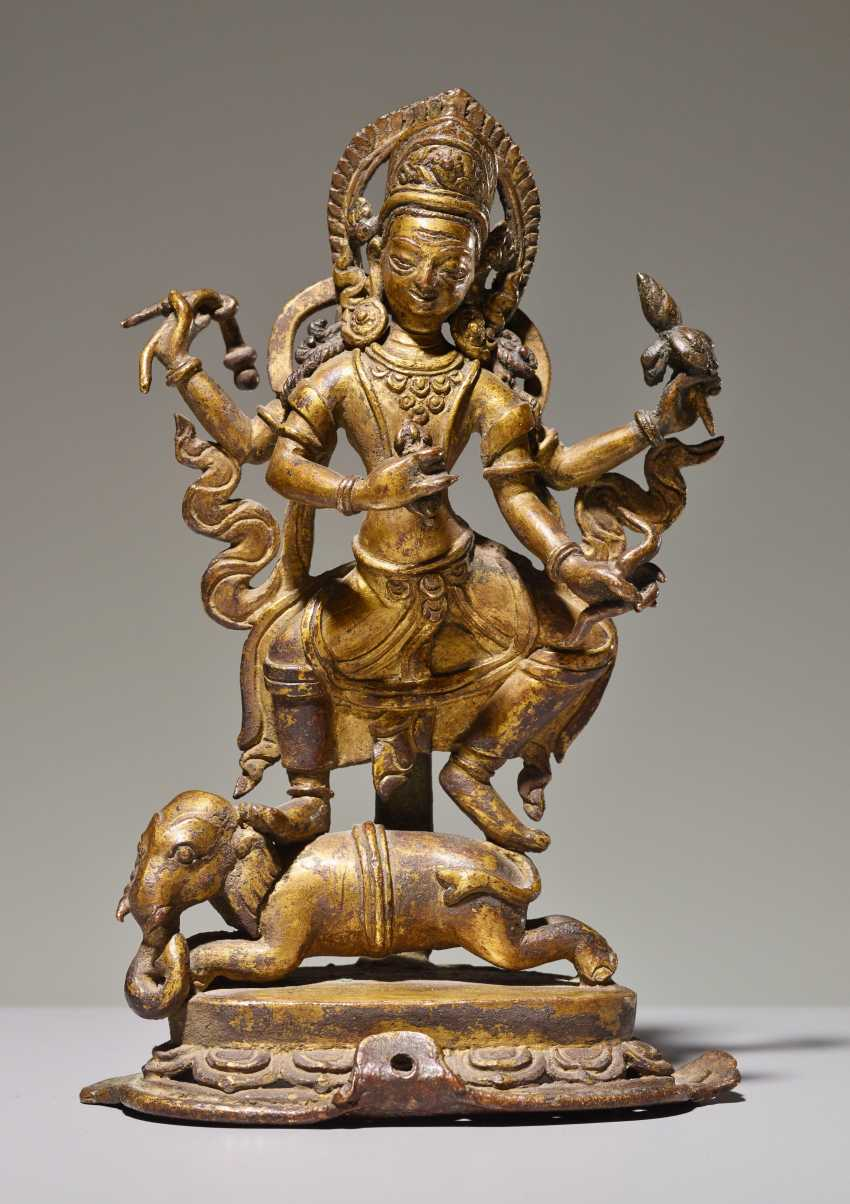 THE DEITY IS INDRA ON ELEPHANT - photo 1