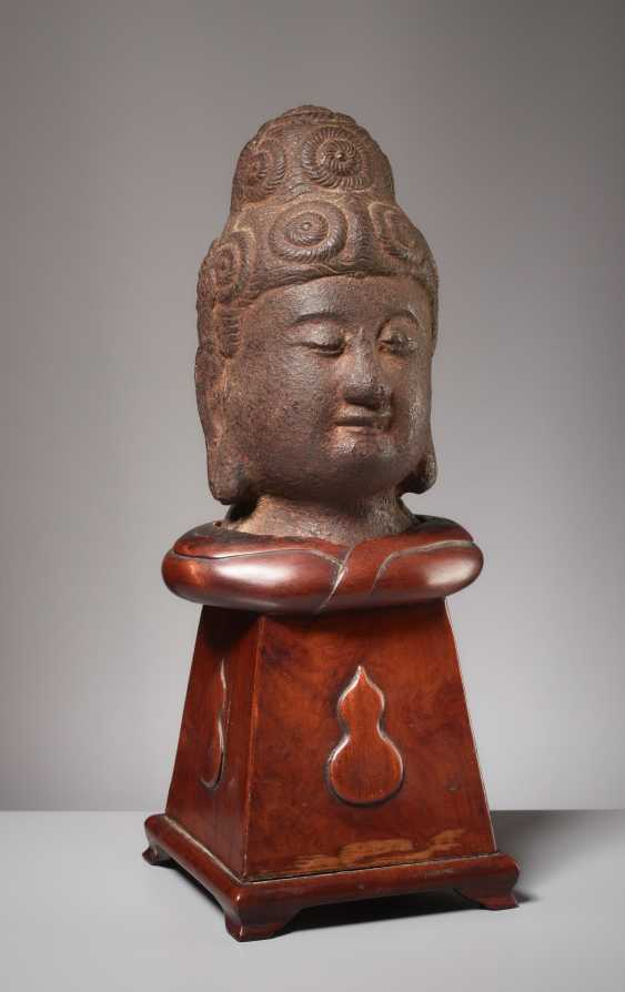 NER EARLIER IRON HEAD OF A BUDDHA