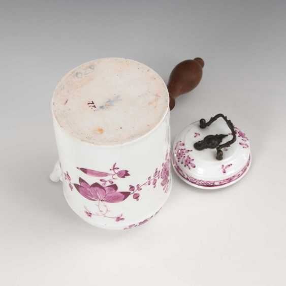 Chocolate pot with purple painting, - photo 3