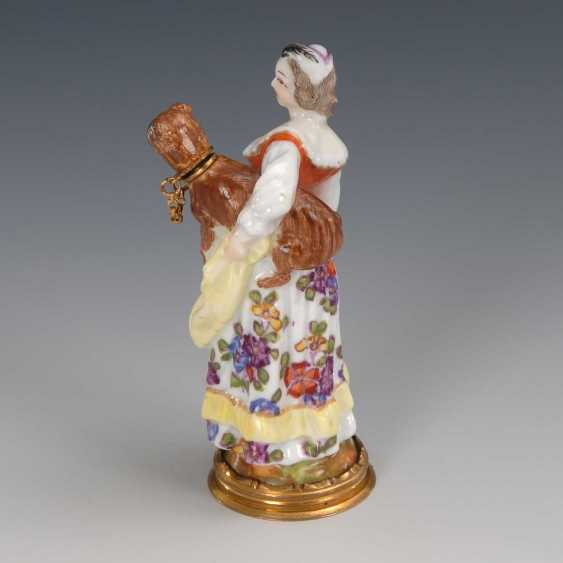 Rare bottle: lady with a pug, Meissen - photo 3