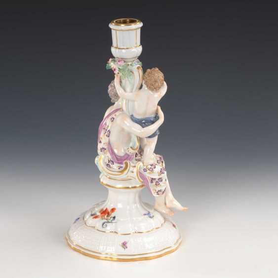 Figure Candlesticks, Meissen. - photo 3