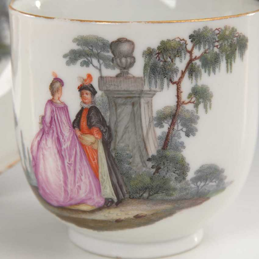 Baroque Cup with Watteau painting, Meiss - photo 3