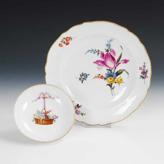 Plate and saucer, Meissen. - photo 1