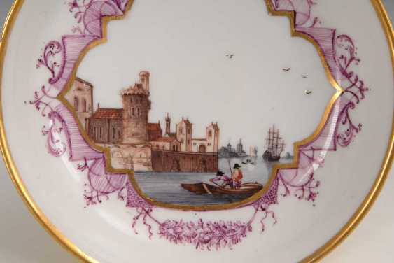 Cup and saucer with kauffahrtei-painting, Meissen. - photo 2