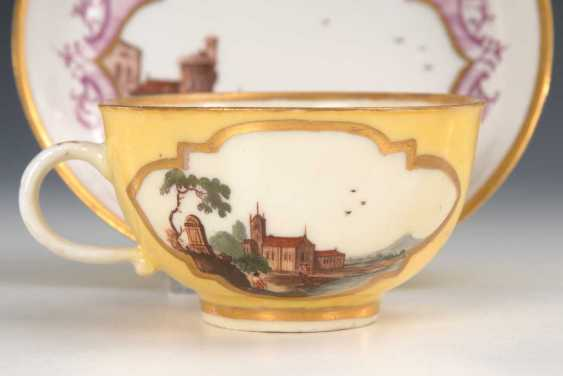Cup and saucer with kauffahrtei-painting, Meissen. - photo 4