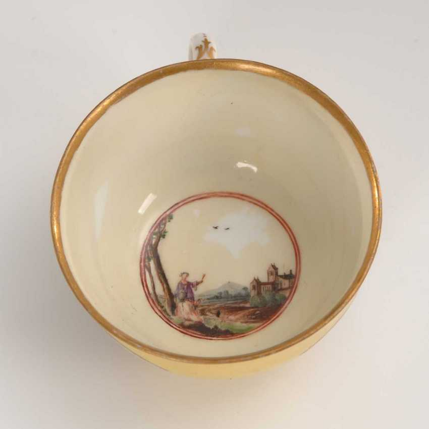 Cup and saucer with kauffahrtei-painting, Meissen. - photo 5