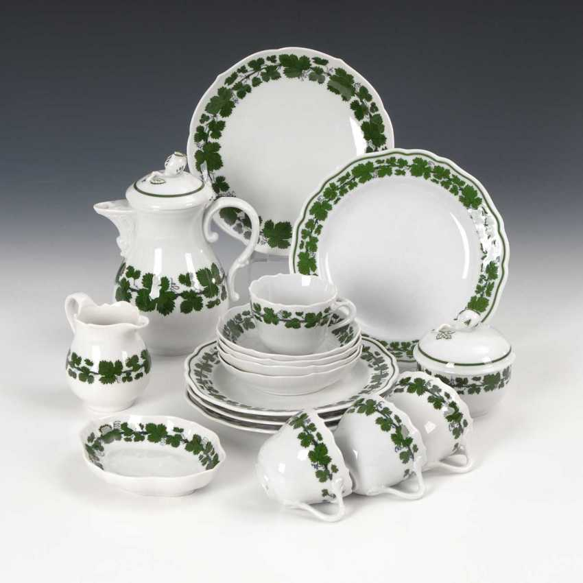 Mocha service with vine leaf decoration, Meissen - photo 1