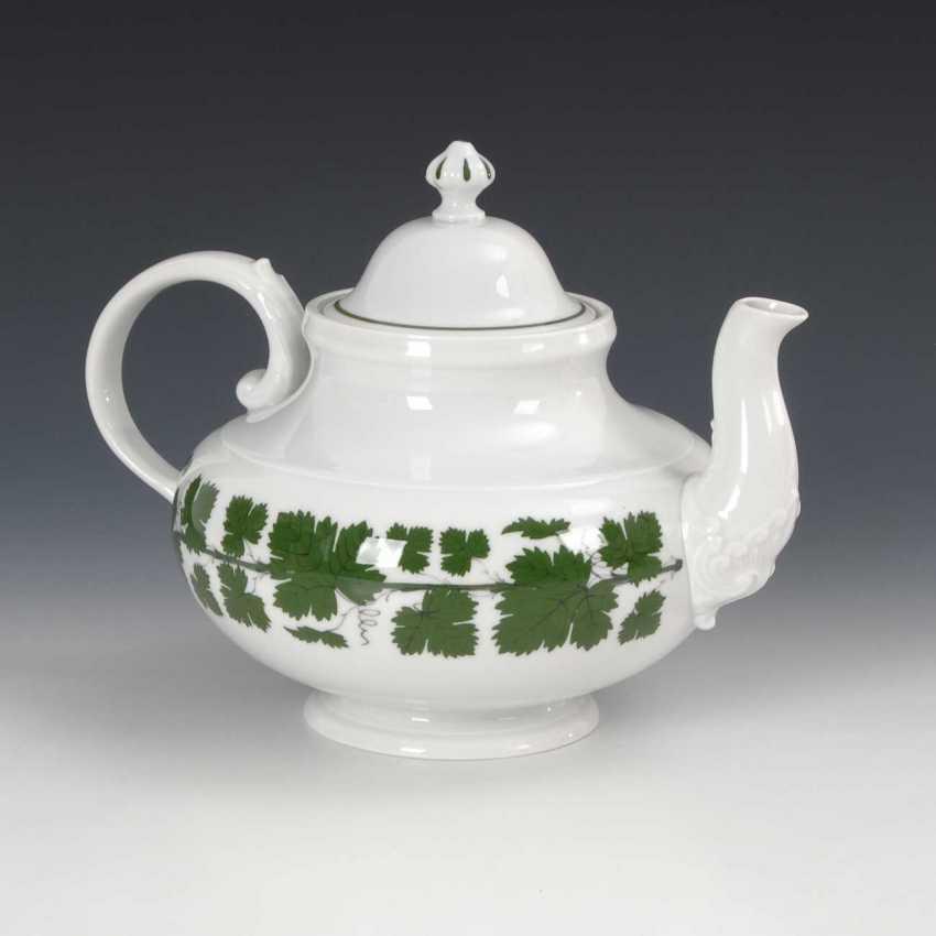 Coffee/tea set with vine leaf decoration, M - photo 2