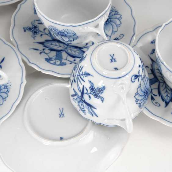 6 onion pattern cups and saucers - photo 2