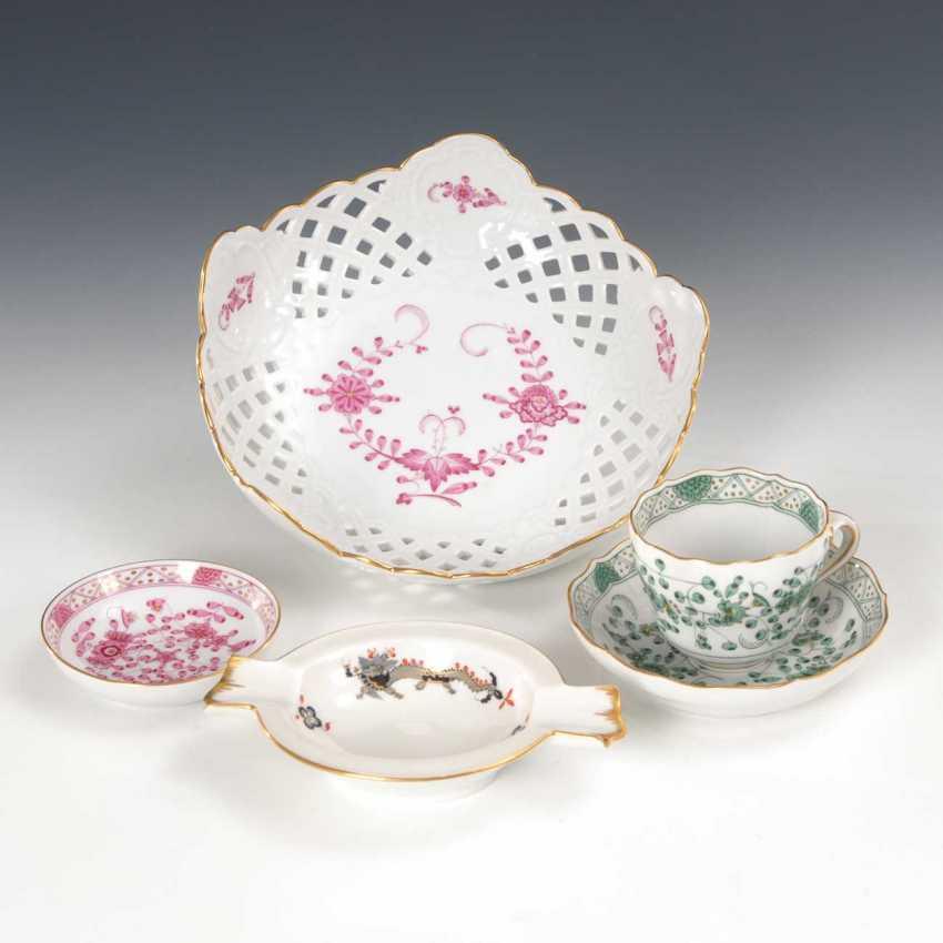 5 Parts Of Porcelain, Meissen. - photo 1