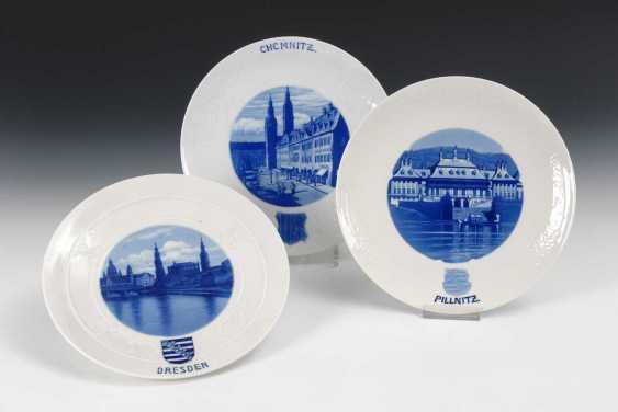 3 View Plate, Meissen. - photo 1