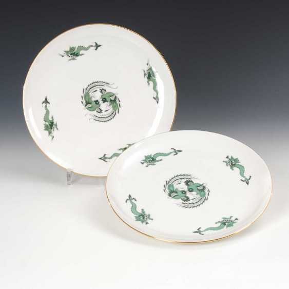 2 cake plate with dragon painting, Meis - photo 1