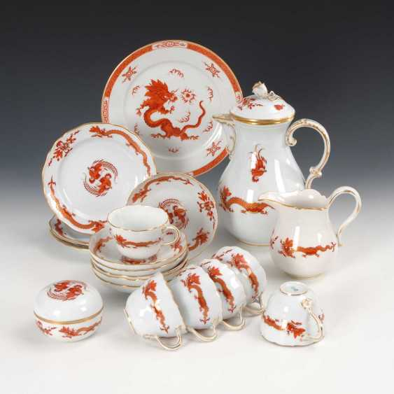 19 parts of a coffee service with dragon - photo 1